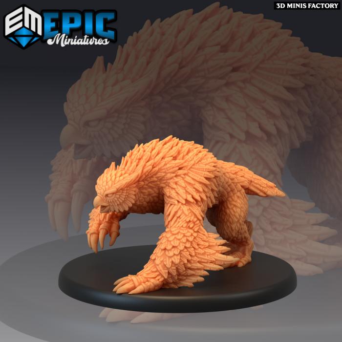 Owlbear Roaming des Arctic Nights créé par Epic Miniatures de 3D Minis Factory