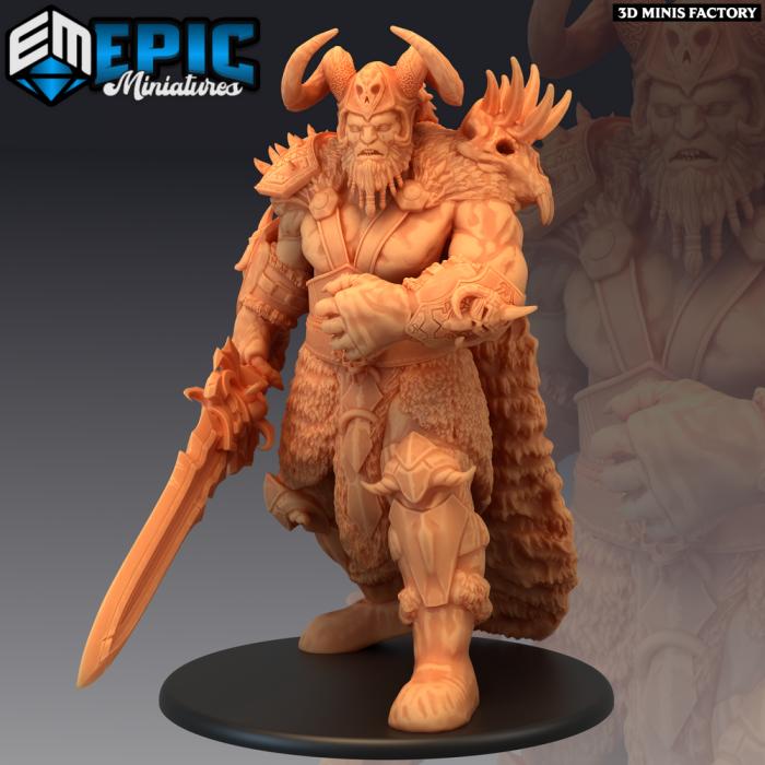 Frost Giant Chief - 2 Variations (Huge) des Arctic Nights créé par Epic Miniatures de 3D Minis Factory