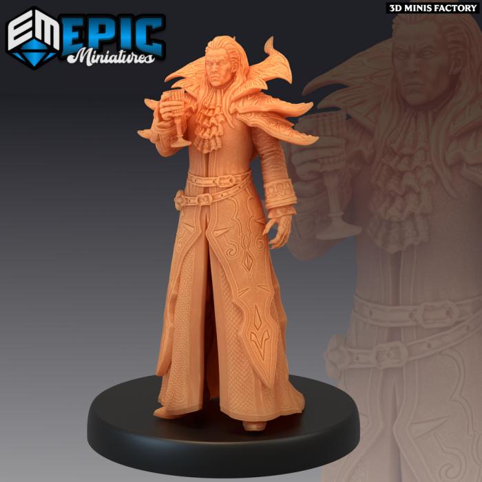 Vampire Lord des Castle of Terror créé par Epic Miniatures de 3D Minis Factory
