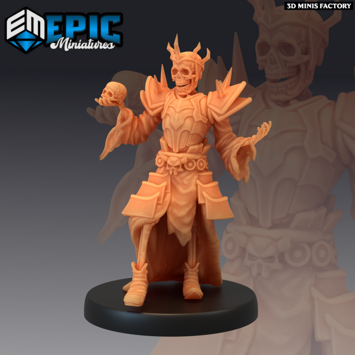Skeleton Wizard King des Castle of Terror créé par Epic Miniatures de 3D Minis Factory