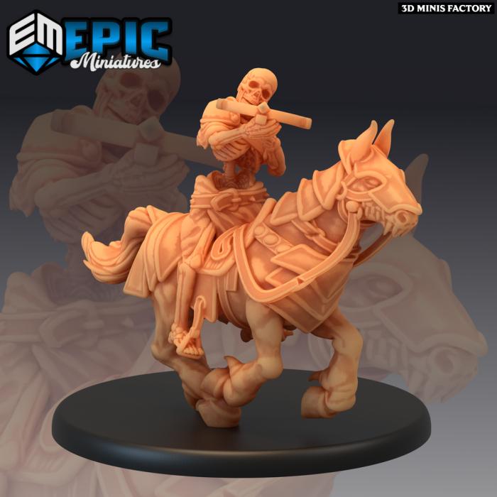 Skeleton Cavalry Crossbow - 2 Variations (Large) des Castle of Terror créé par Epic Miniatures de 3D Minis Factory