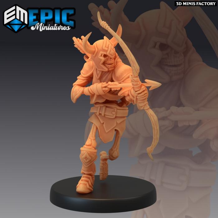 Skeleton Archer des Castle of Terror créé par Epic Miniatures de 3D Minis Factory