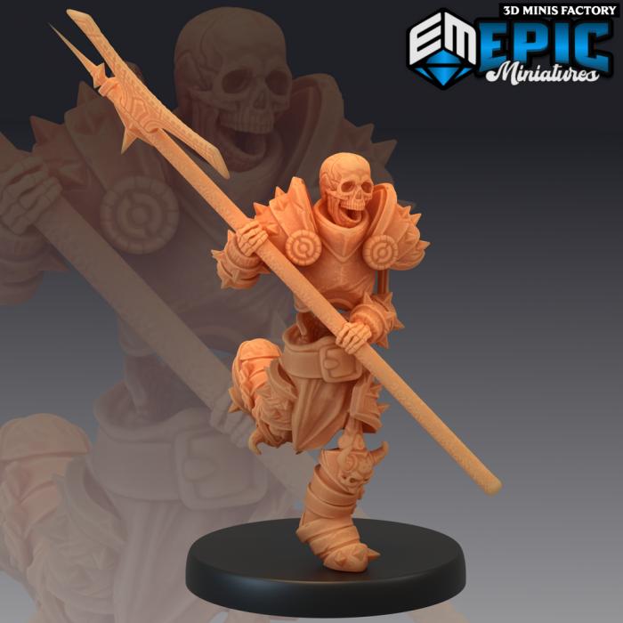 Skeleton Knight des Castle of Terror créé par Epic Miniatures de 3D Minis Factory