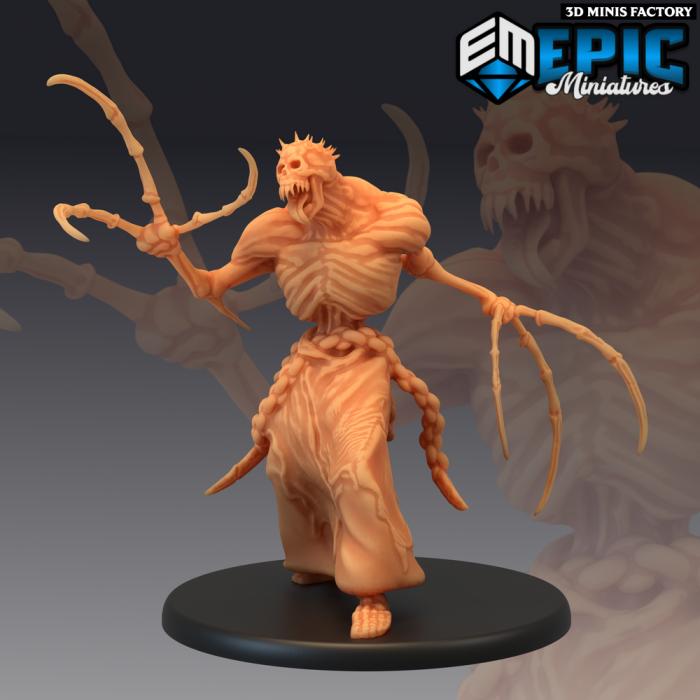Bone Claw - 3 Variations des Castle of Terror créé par Epic Miniatures de 3D Minis Factory