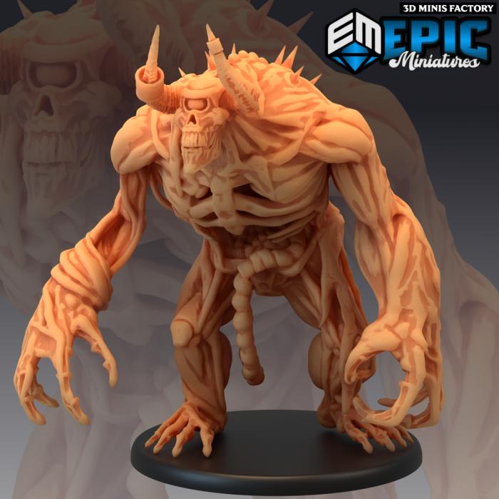 Undead Cyclops des Castle of Terror créé par Epic Miniatures de 3D Minis Factory