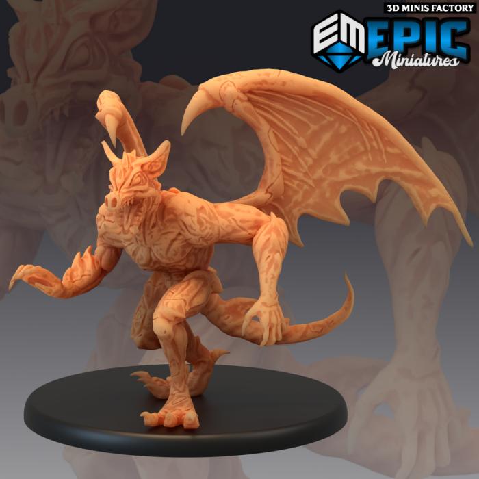 Gargoyle Roaming des Castle of Terror créé par Epic Miniatures de 3D Minis Factory