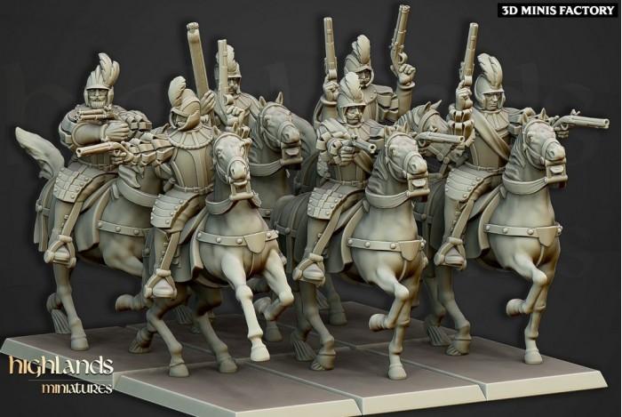 Black Riders des Sunland Empire créé par Highlands Miniatures de 3D Minis Factory