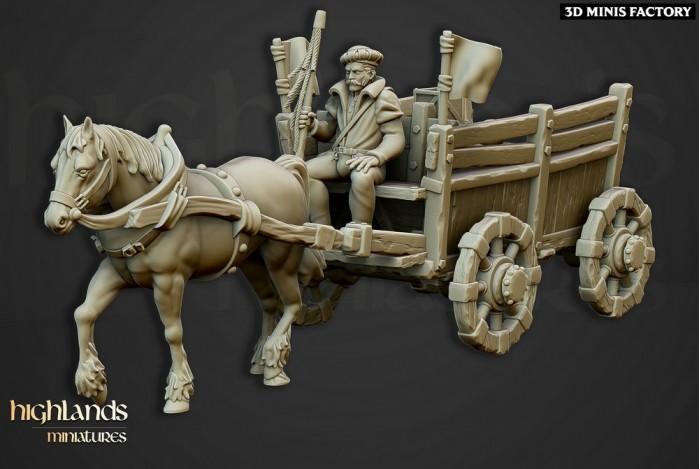 Gold Wagon des Sunland Empire créé par Highlands Miniatures de 3D Minis Factory