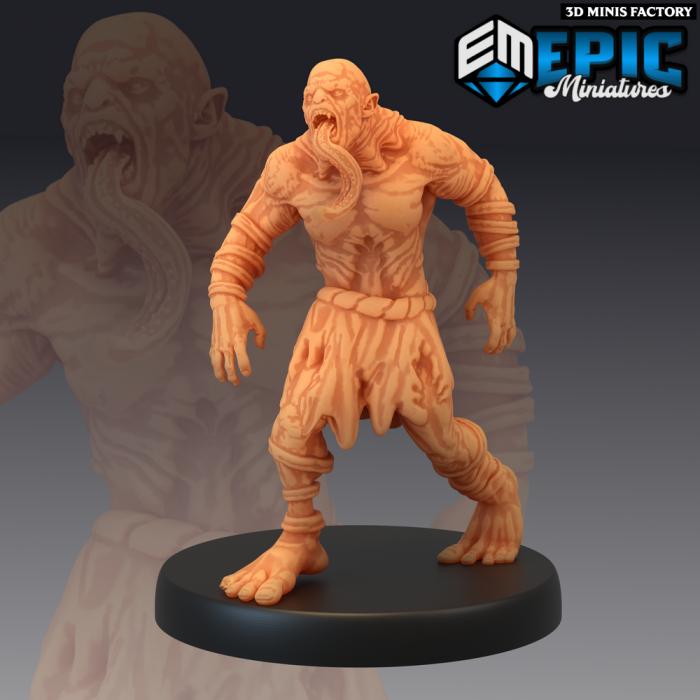 Ghoul Tongue des Castle of Terror créé par Epic Miniatures de 3D Minis Factory