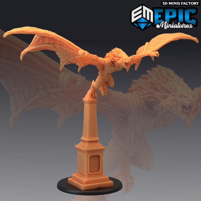 Giant Bat Flying - 2 Variations (Large) des Castle of Terror créé par Epic Miniatures de 3D Minis Factory