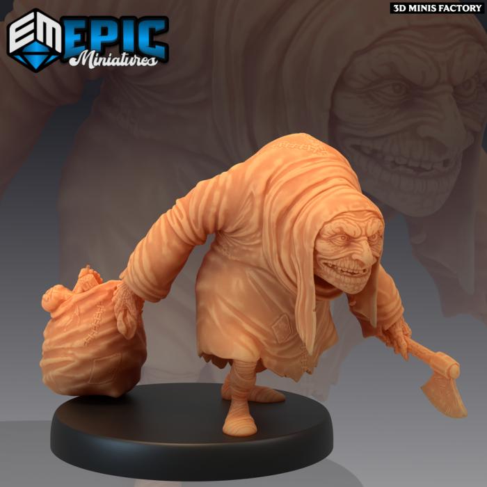Hunchback Body Parts des Castle of Terror créé par Epic Miniatures de 3D Minis Factory