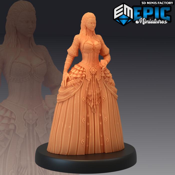 Vampire Lady des Castle of Terror créé par Epic Miniatures de 3D Minis Factory