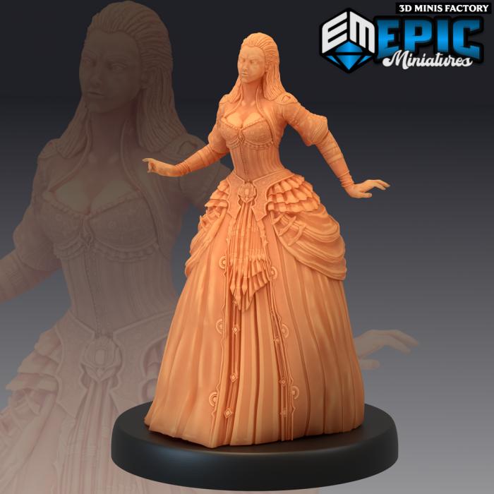 Vampire Lady Walking des Castle of Terror créé par Epic Miniatures de 3D Minis Factory