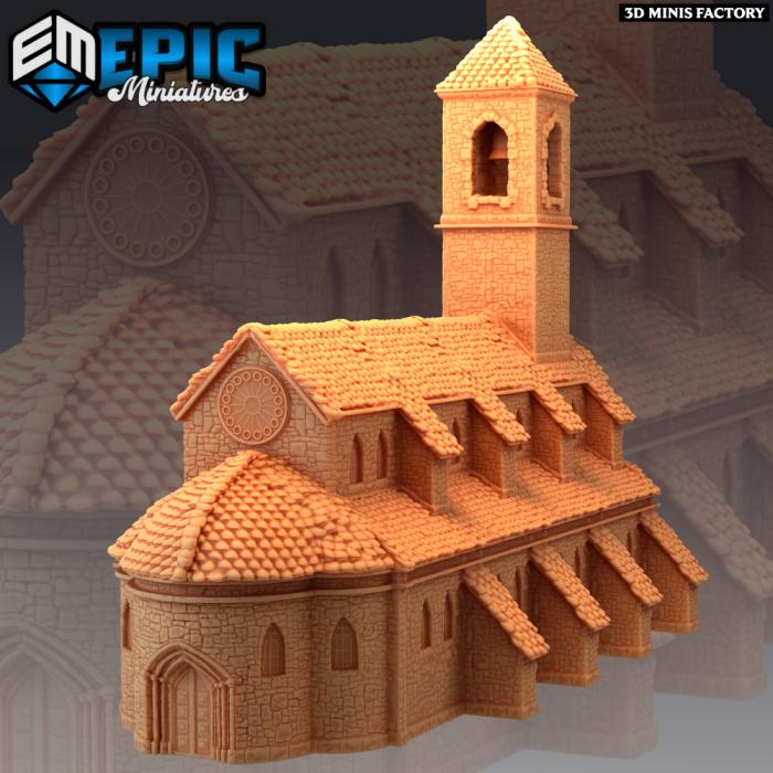 Abandoned Church des Castle of Terror créé par Epic Miniatures de 3D Minis Factory