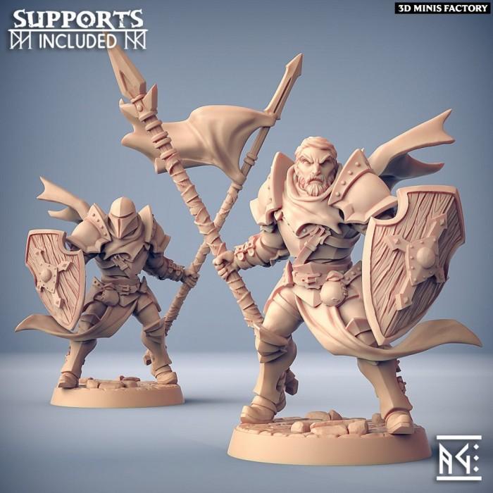 Human Fighters Guild - A (Male) Modular des Fighters Guild créé par Artisan Guild de 3D Minis Factory