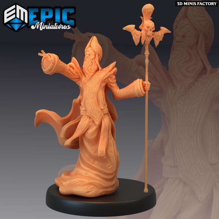 Yellow Bishop des Sons of Midnight créé par Epic Miniatures de 3D Minis Factory