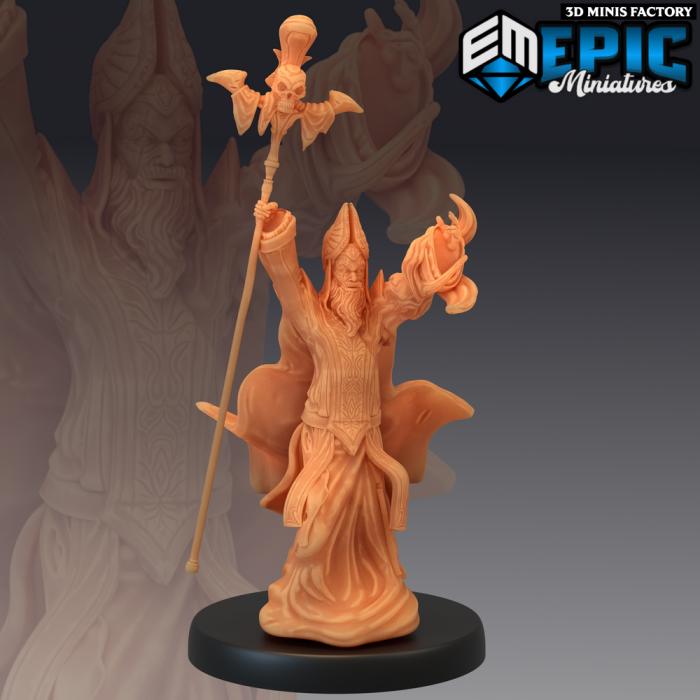 Yellow Bishop Invoking des Sons of Midnight créé par Epic Miniatures de 3D Minis Factory