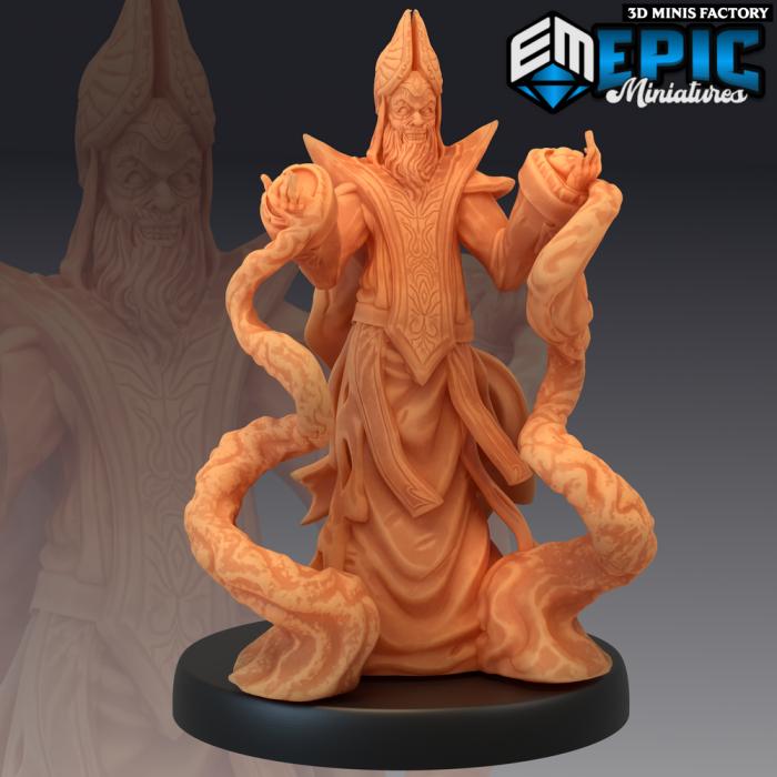 Yellow Bishop Magic des Sons of Midnight créé par Epic Miniatures de 3D Minis Factory