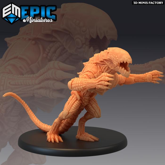 Hound of Tindalos Attacking des Sons of Midnight créé par Epic Miniatures de 3D Minis Factory