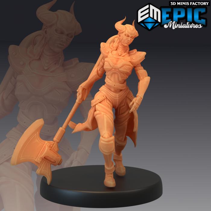 Dark Dragoon Lady des Sons of Midnight créé par Epic Miniatures de 3D Minis Factory