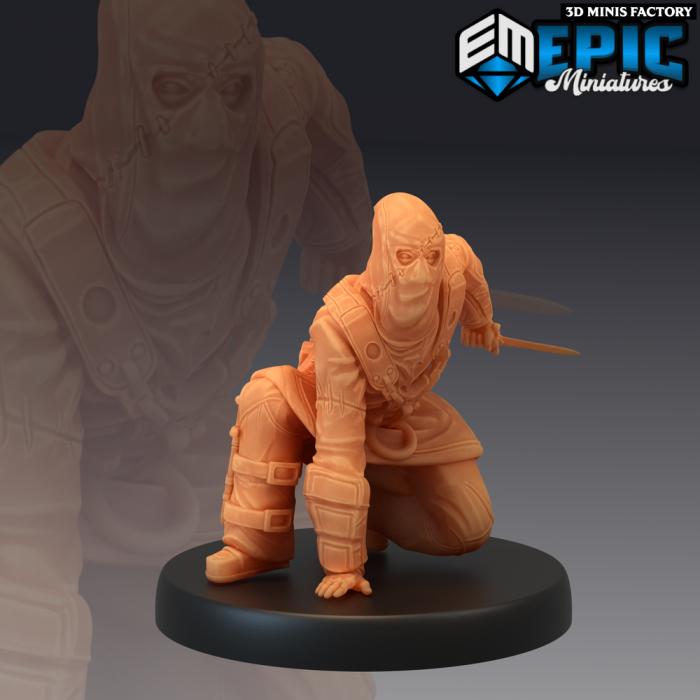 Masked Murderer Dagger des Sons of Midnight créé par Epic Miniatures de 3D Minis Factory
