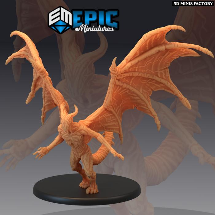 Night Gaunt Attacking des Sons of Midnight créé par Epic Miniatures de 3D Minis Factory