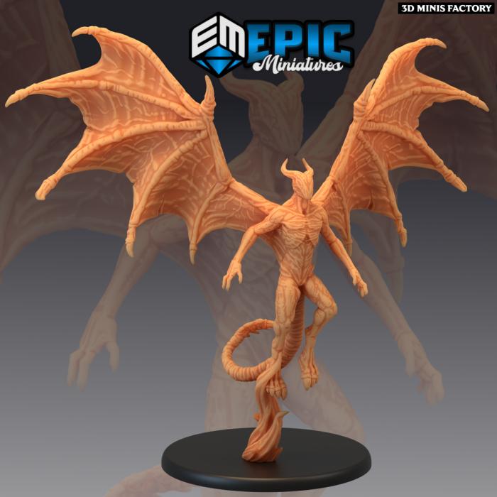 Night Gaunt Flying des Sons of Midnight créé par Epic Miniatures de 3D Minis Factory