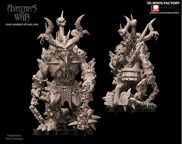 Harbinger of wrath 4 des Deamon créé par Avatars of War de 3D Minis Factory