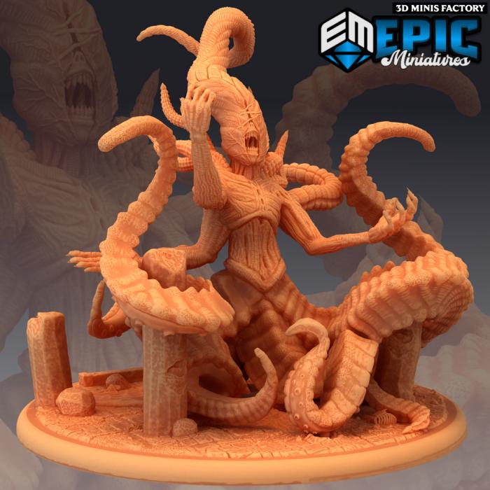 Nyarlathotep des Ruins of Madness créé par Epic Miniatures de 3D Minis Factory