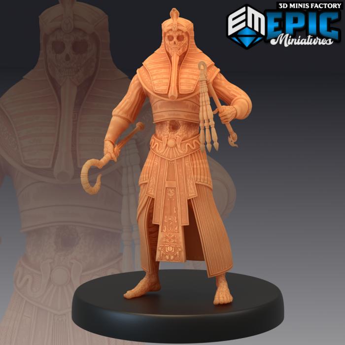 Black Pharaoh des Ruins of Madness créé par Epic Miniatures de 3D Minis Factory