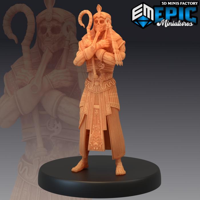 Black Pharaoh Standing - 2 Variations (Medium) des Ruins of Madness créé par Epic Miniatures de 3D Minis Factory