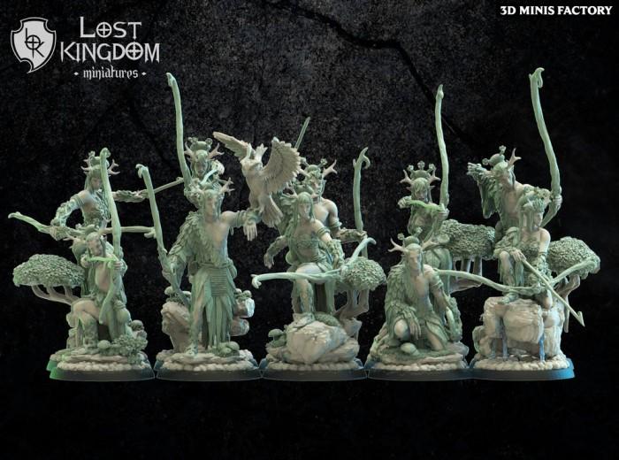 Archers des Mori Elves créé par Lost Kingdom Miniatures de 3D Minis Factory