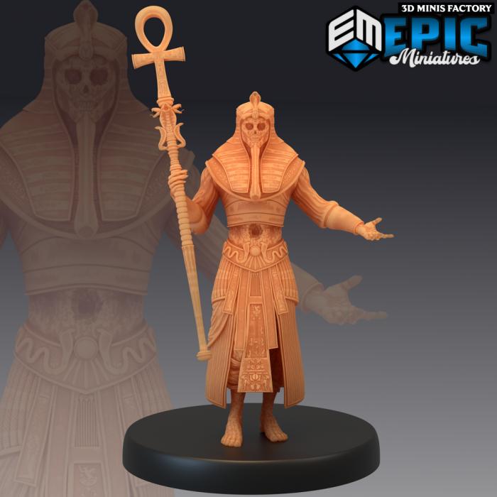 Black Pharaoh Staff des Ruins of Madness créé par Epic Miniatures de 3D Minis Factory