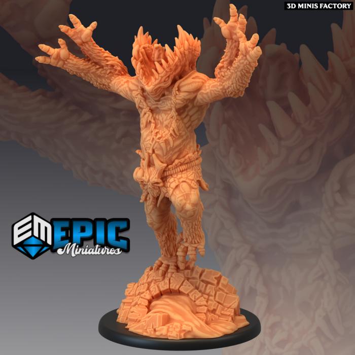Gug Jumping des Ruins of Madness créé par Epic Miniatures de 3D Minis Factory