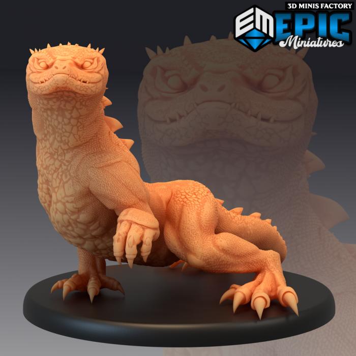 Desert Lizard Wild des Ruins of Madness créé par Epic Miniatures de 3D Minis Factory