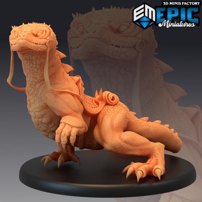 Desert Lizard Mount des Ruins of Madness créé par Epic Miniatures de 3D Minis Factory