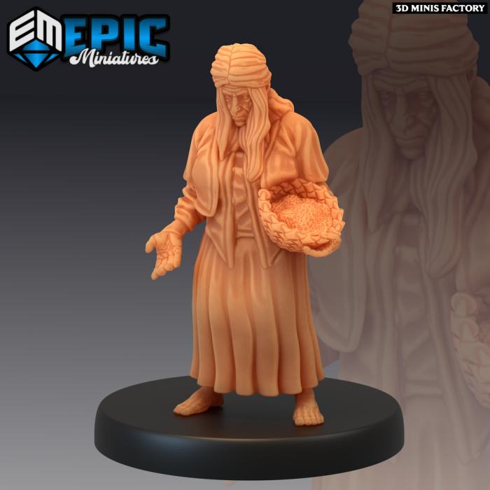 Villager Beggar des Villager Collection créé par Epic Miniatures de 3D Minis Factory