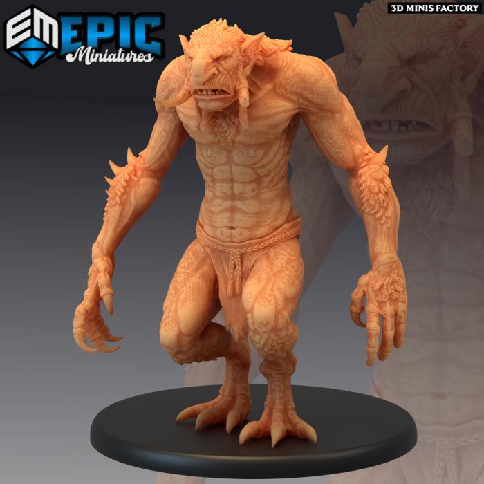 Forest Troll des Monster Rampage créé par Epic Miniatures de 3D Minis Factory