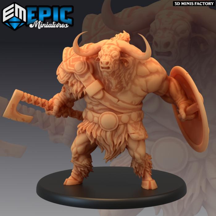 Longhorn Minotaur des Monster Rampage créé par Epic Miniatures de 3D Minis Factory