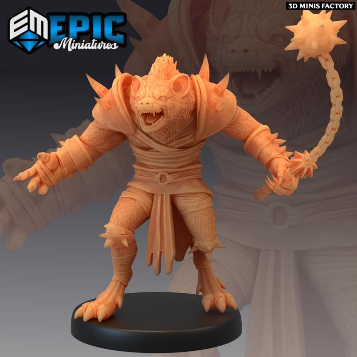Gnoll Mace des Monster Rampage créé par Epic Miniatures de 3D Minis Factory