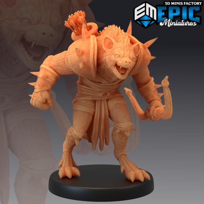 Gnoll Archer des Monster Rampage créé par Epic Miniatures de 3D Minis Factory