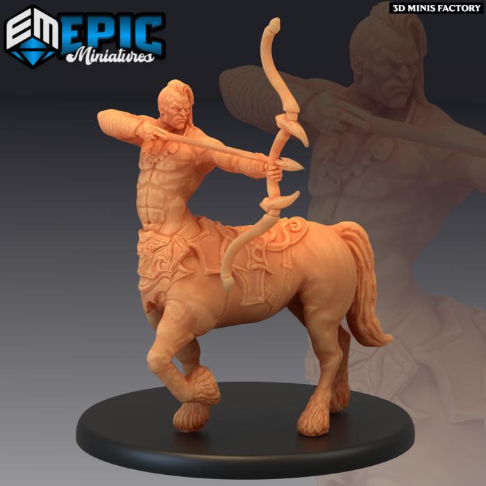 Centaur Archer des Monster Rampage créé par Epic Miniatures de 3D Minis Factory