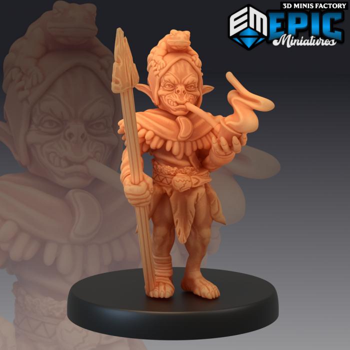 Goblin Warrior Spear des Monster Rampage créé par Epic Miniatures de 3D Minis Factory
