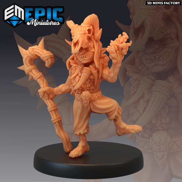 Goblin Fire Shaman des Monster Rampage créé par Epic Miniatures de 3D Minis Factory