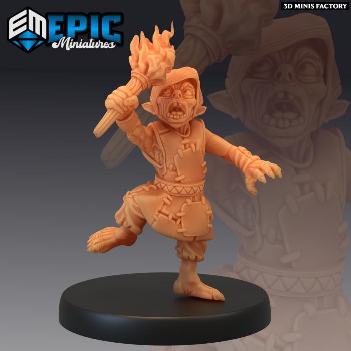 Goblin Arsonist des Monster Rampage créé par Epic Miniatures de 3D Minis Factory