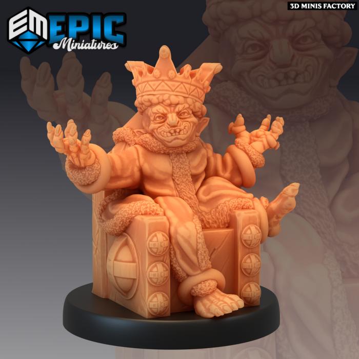 Goblin King des Monster Rampage créé par Epic Miniatures de 3D Minis Factory