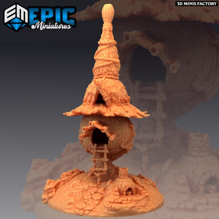 Goblin Village Tree House des Monster Rampage créé par Epic Miniatures de 3D Minis Factory