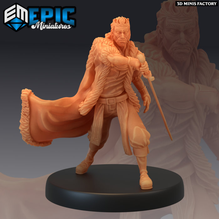 Corrupt King Fighting des Last Rebellion créé par Epic Miniatures de 3D Minis Factory