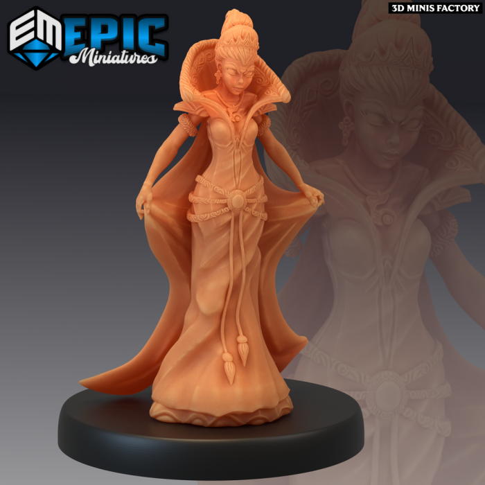 Vicious Queen des Last Rebellion créé par Epic Miniatures de 3D Minis Factory