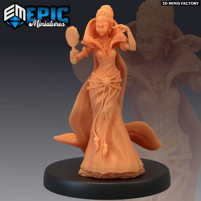 Vicious Queen Showing Off - 2 Variations (Medium) des Last Rebellion créé par Epic Miniatures de 3D Minis Factory